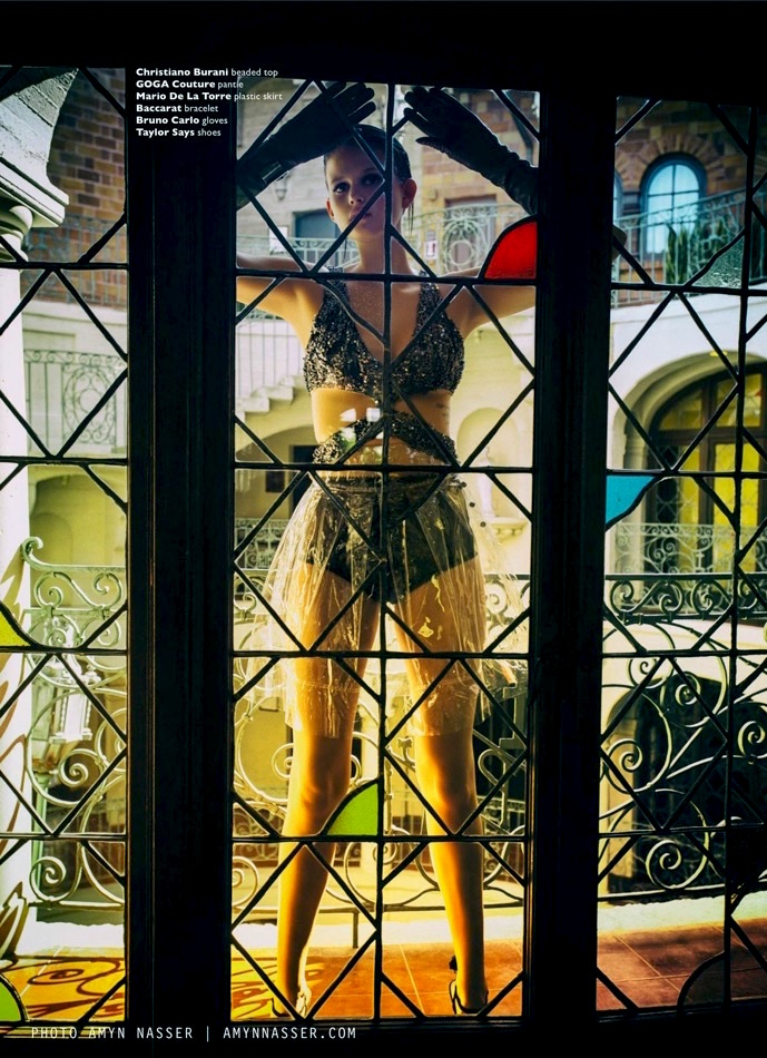 Mission Inn plastic skirt Melissa Laskin fashion celebrity stylist
