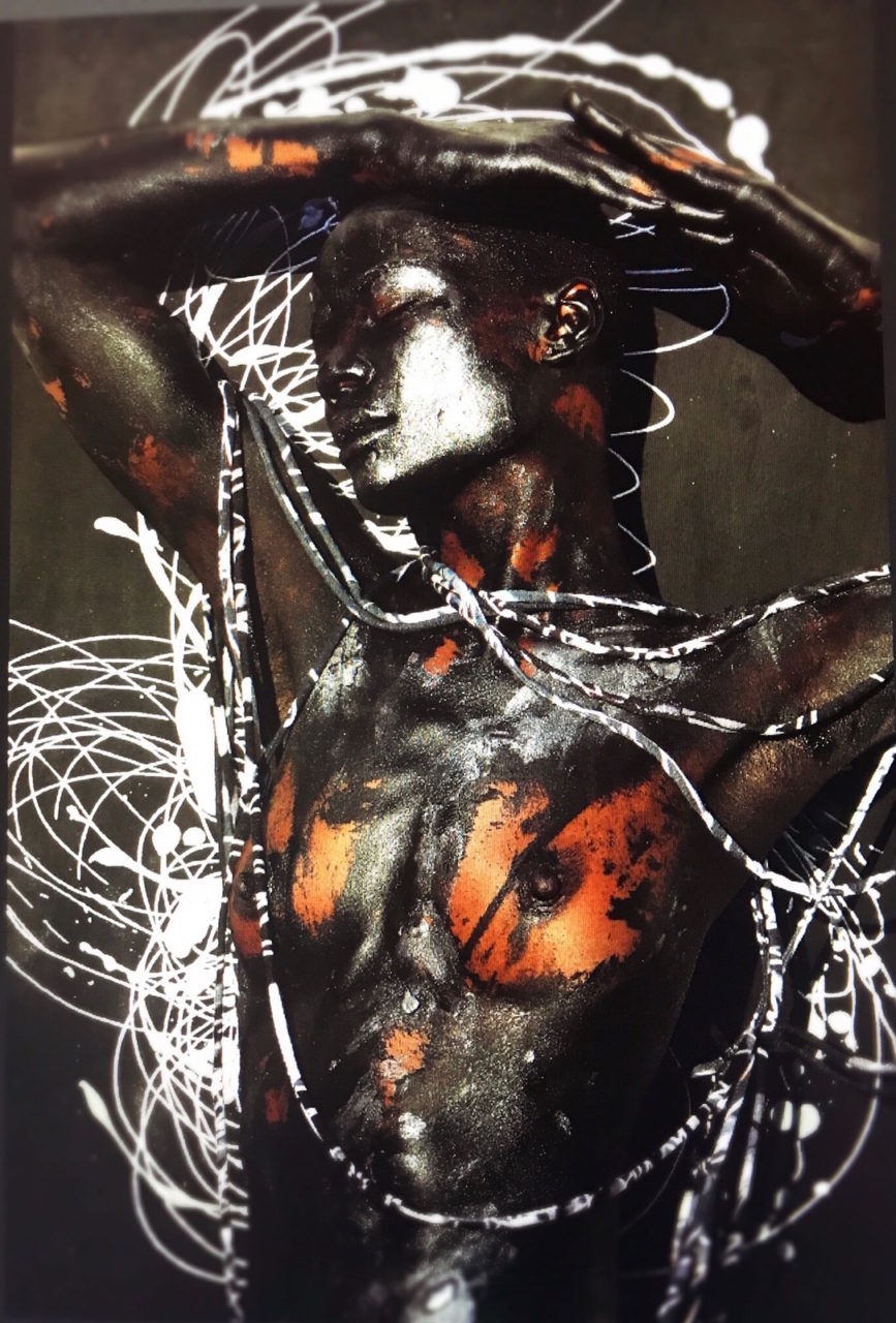 Guetcha swirly Melissa Laskin fashion celebrity stylist fine art body painting