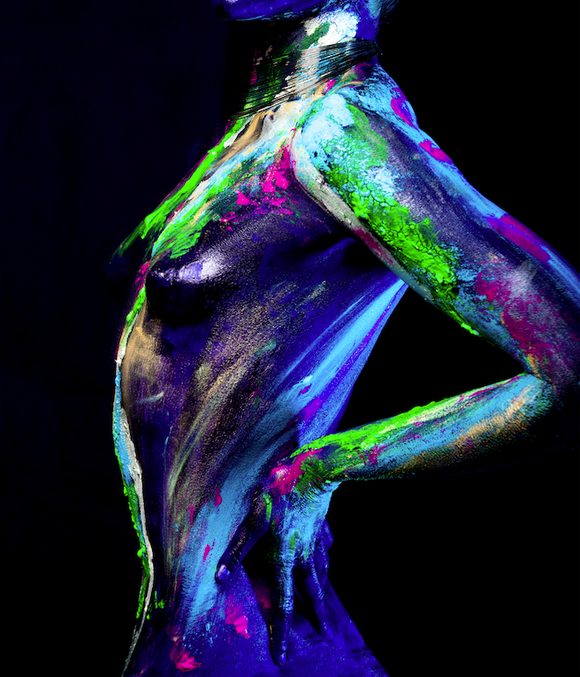 Melissa Laskin celebrity fashion stylist fine art body painting
