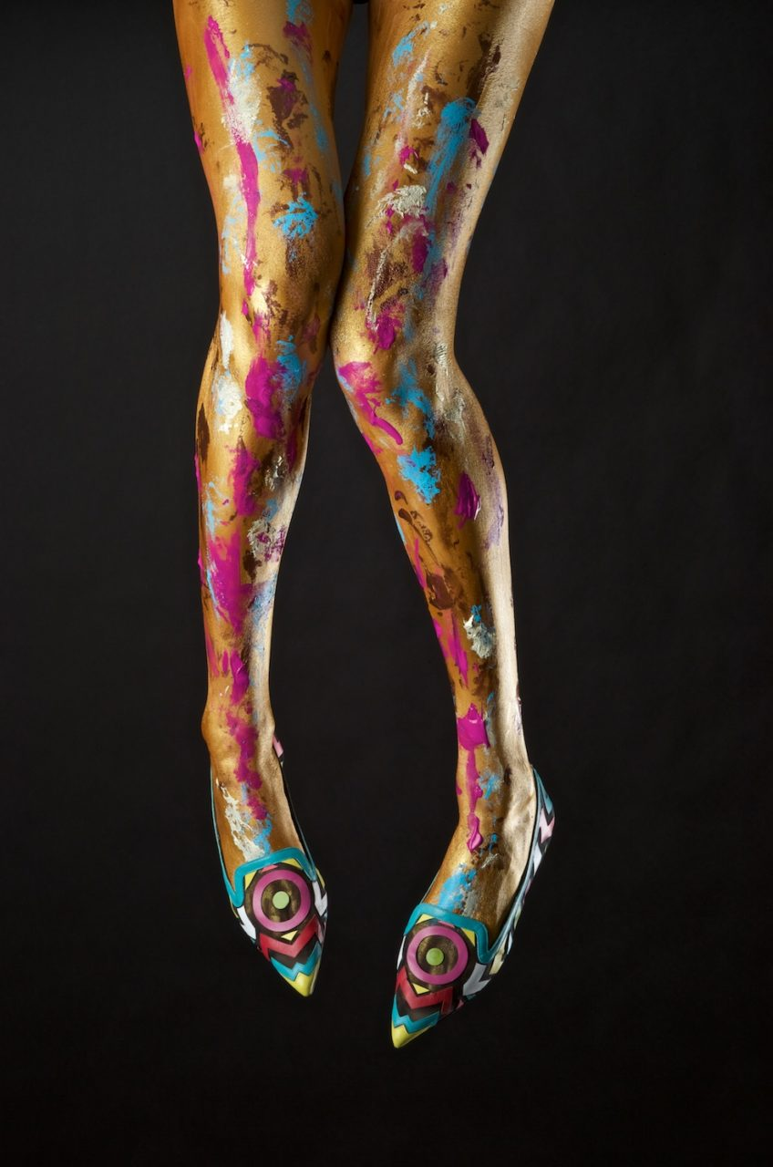 Melissa Laskin fashion celebrity stylist fine art body painting