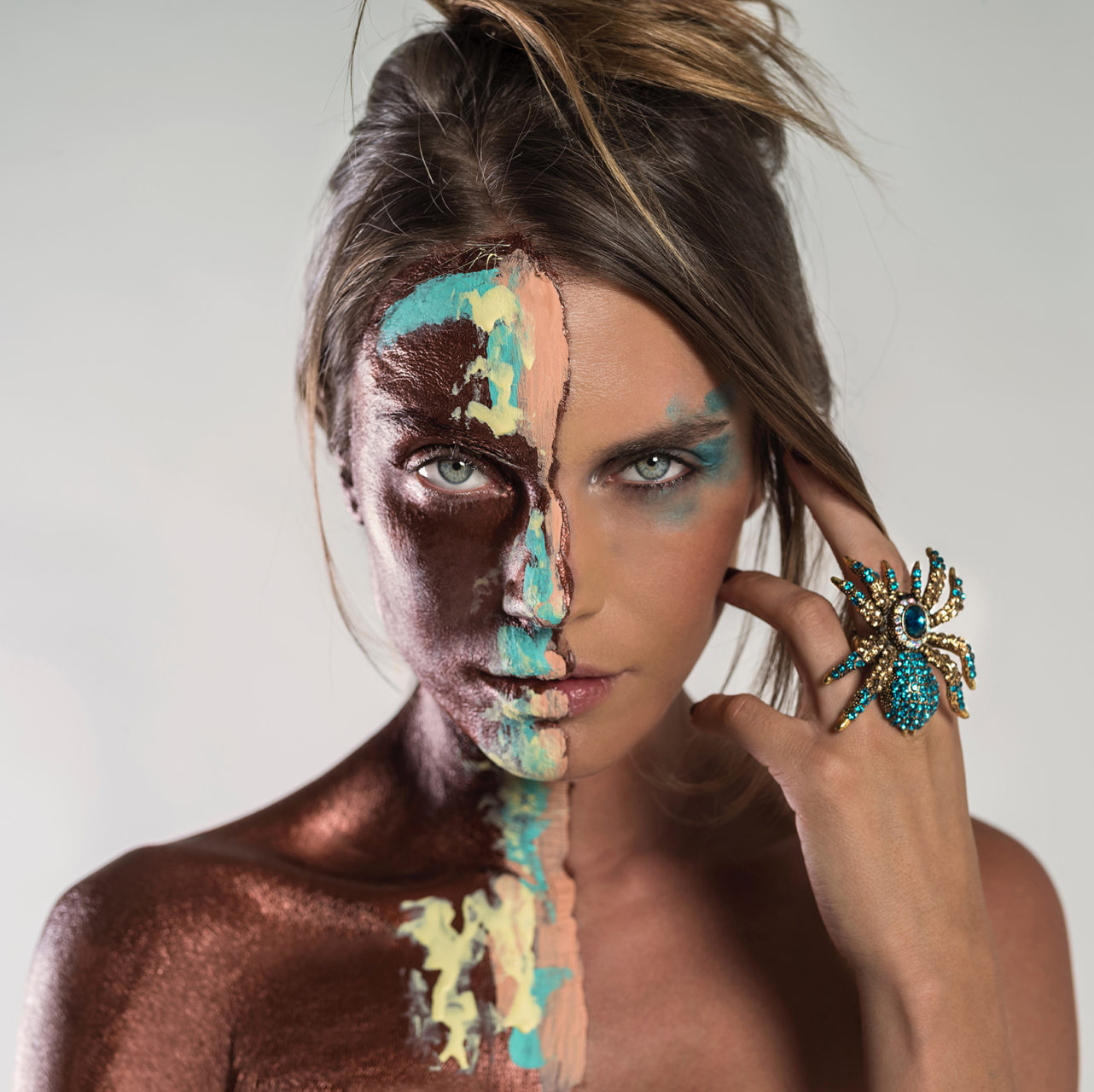 Marina ring Melissa Laskin fashion celebrity stylist fine art body painting