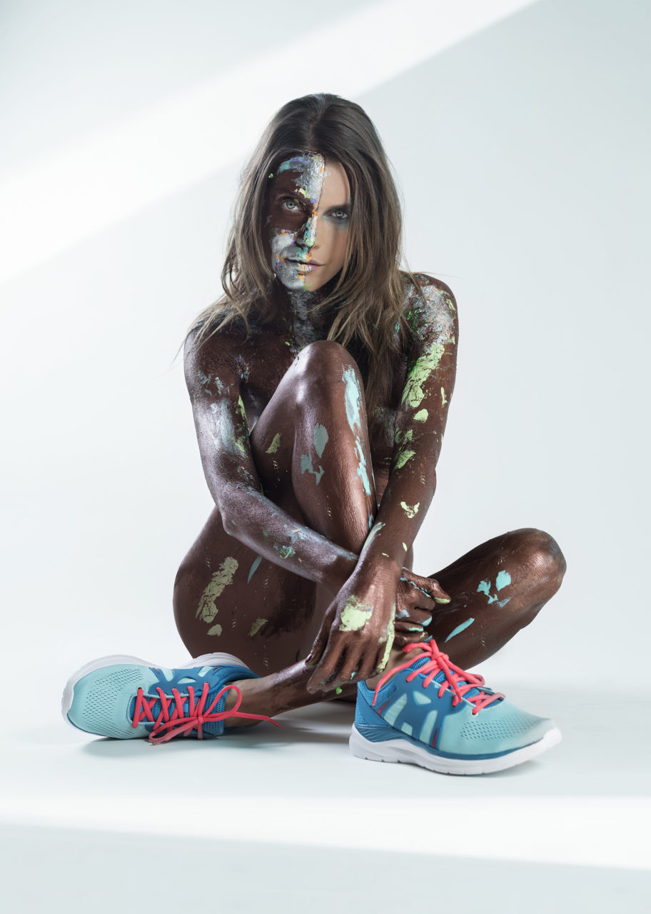 Marila sneakers Melissa Laskin fashion celebrity stylist fine art body painting