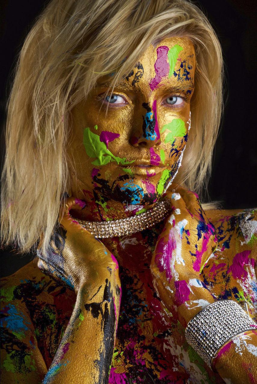 body fine art painting by Melissa Laskin fashion celebrity stylist
