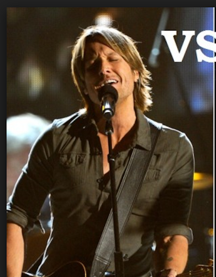 Keith Urban brown shirt Melissa Laskin