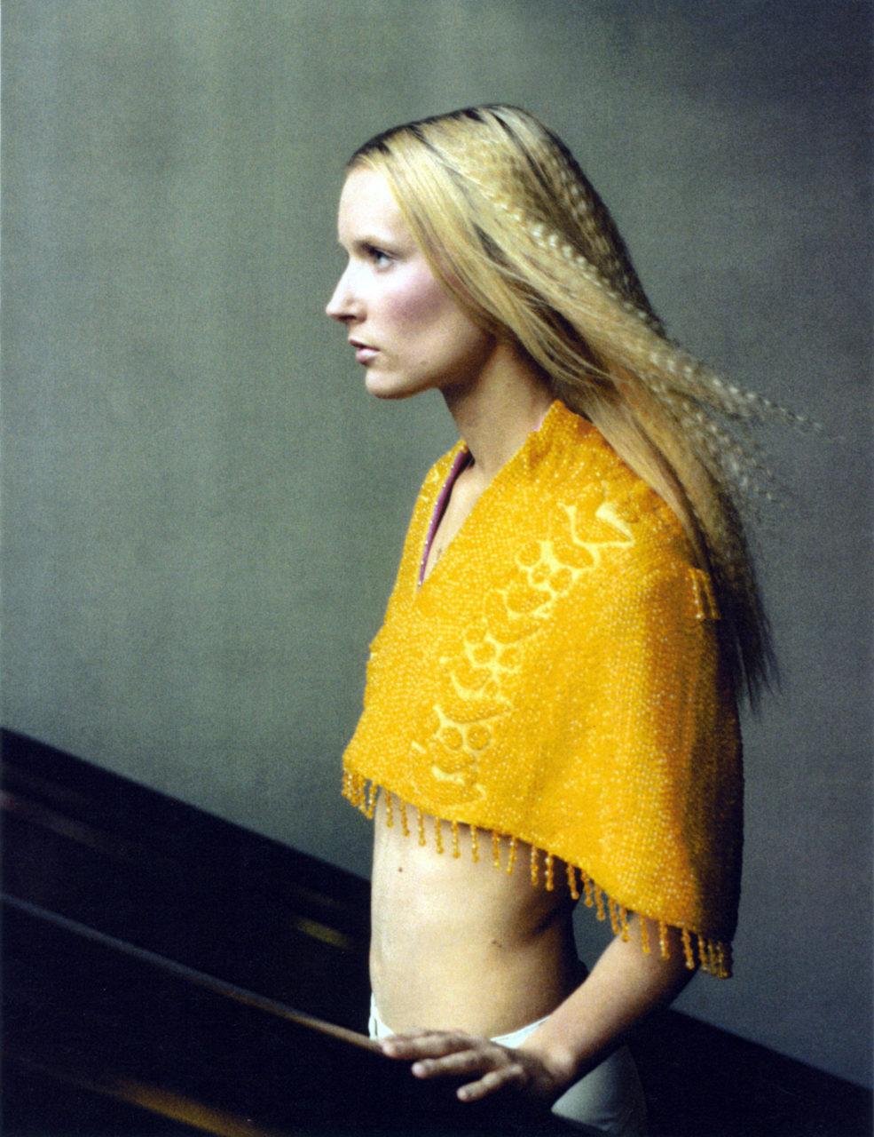 Melissa Laskin Yellow Cape