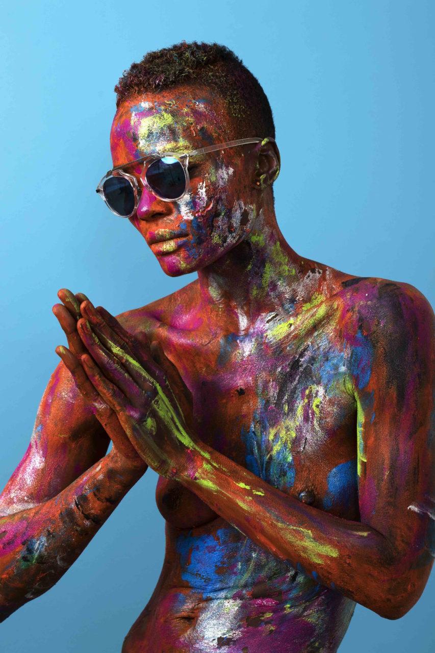 Melissa Laskin fashion celebrity stylist fin art body painting